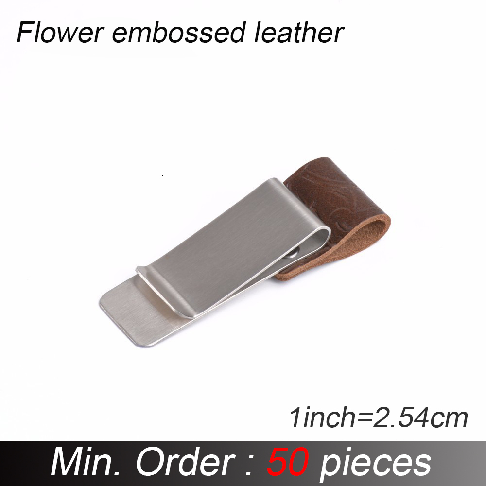 50 Pieces / Lot Metal Leather Pen Pencil Holder Clip Brass And Stainless Steel For Leather Diary Journals Notebook Accessory