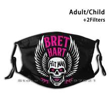Bret the hitman hart design personalizado para a criança adulto máscara anti filtro de poeira impressão lavável máscara facial pedra fria steve