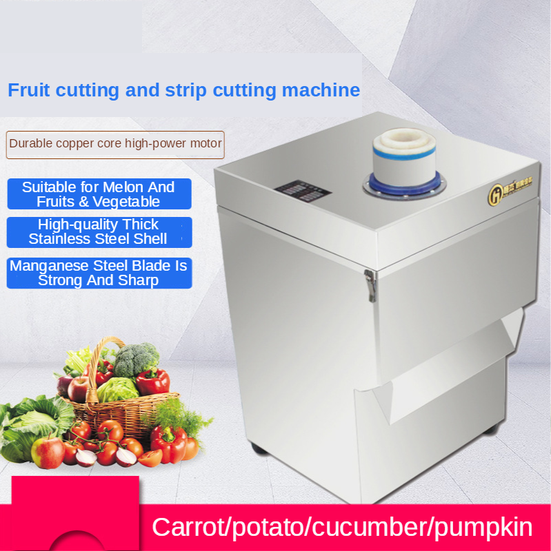 Stainless Steel Canteen Electric Vegetable Cutter Commercial Use Multi-Functional Fully Automatic Potato Cutter Ding Chip Cutter