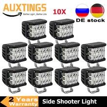 """2/10PCS 4 """"3 Seiten Shooter 60W Led Arbeit Licht Cube Off Road 4x4 ATV Led Licht Fahren Lampe für SUV Lkw Auto Boot 10 30V"""