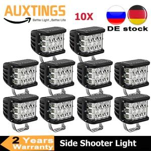 "Image 1 - 2/10PCS 4 ""3 Seiten Shooter 60W Led Arbeit Licht Cube Off Road 4x4 ATV Led Licht Fahren Lampe für SUV Lkw Auto Boot 10 30V"