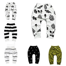 New Cotton Babys Boys Girls PP Pants Print Pattern Baby Trousers For Sports Baby Harem Pants Kids For Newborn Girl Boy Clothing