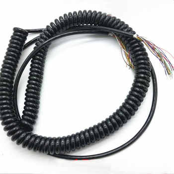 Wholesale 12 15 19 21 26 Cores Spring Spiral Cable Coiled Cable for CNC Handheld Encoder Manual Pulse Generator MPG - DISCOUNT ITEM  0% OFF All Category