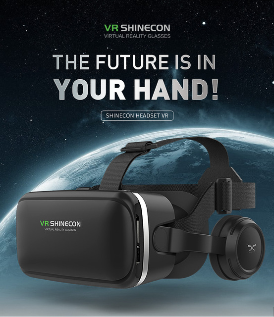 VR shinecon 6.0 Standard Edition and VR Headset Version Virtual Reality 3D VR Glasses Headset Helmets 6