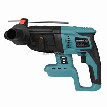18V rechargeable brushless cordless rotary hammer drill electric Hammer impact drill without battery&case 5000 10000mah long duration hammer cordless drill rechargeable lithium battery multifunctional electric hammer impact drill