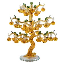Crystal Tree Lucky Feng Shui Wheel Wine Cabinet Bookshelf Living Room Decoration Ornaments Opening Wedding Gift Crafts