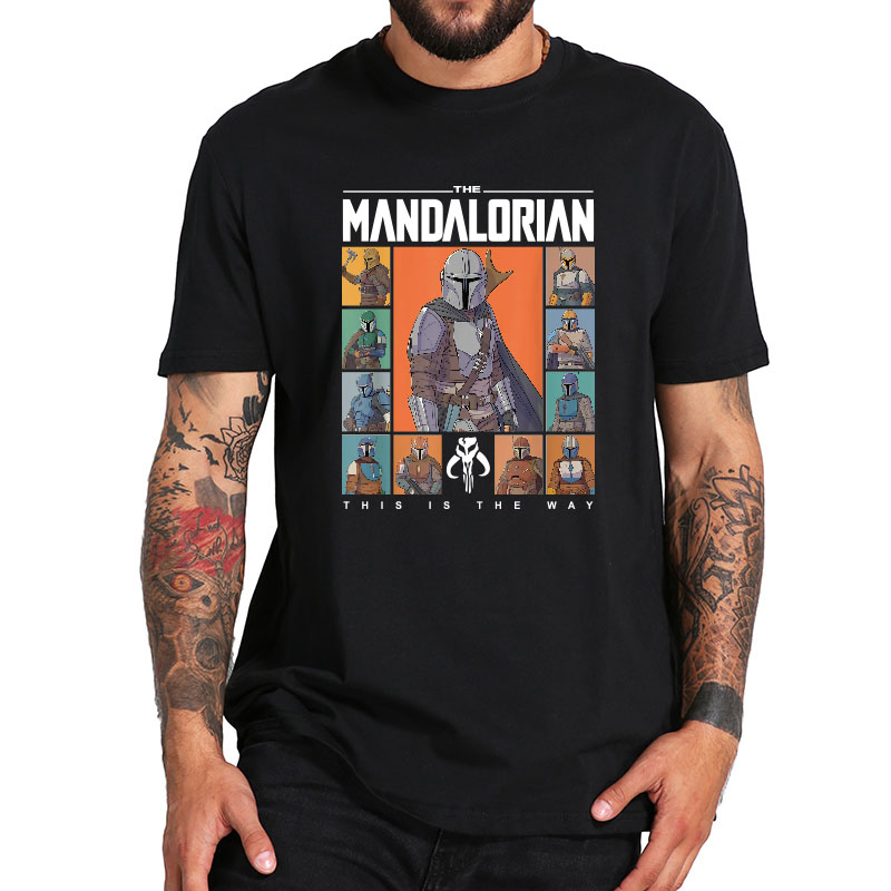 The Mandalorian T Shirt Star Wars This Is The Way Tshirt Pure Cotton High Quality Cloth Basic Black Tee Tops
