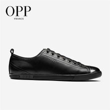 OPP Mens Loafers Fashion Metal Punk Lace-up Casual Shoes Leather Stitching Casual Men #8217 s Shoes Genuine Leather Loafers for Men cheap Cow Leather Rubber 6560-1 Fits larger than usual Please check this store s sizing info Mixed Colors Adult Breathable Pigskin