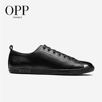 OPP Mens Loafers Fashion Metal Punk Lace-up Casual Shoes, Leather Stitching Casual Men's Shoes Genuine Leather Loafers for Men