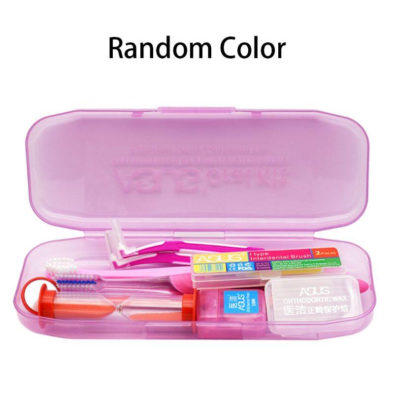 fio dental escova interdental escova ortodontica 10 pcs set profissional cera de protecao cinta espelho ferramentas