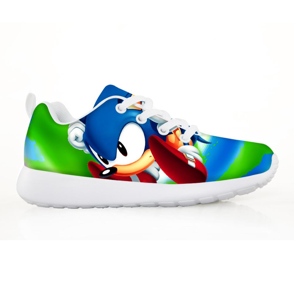 NOISYDESIGNS Kids Shoes For Boys Breathable Sonic The Hedgehog Printing Cartoon Children Sneakers Running Tenis Infantil
