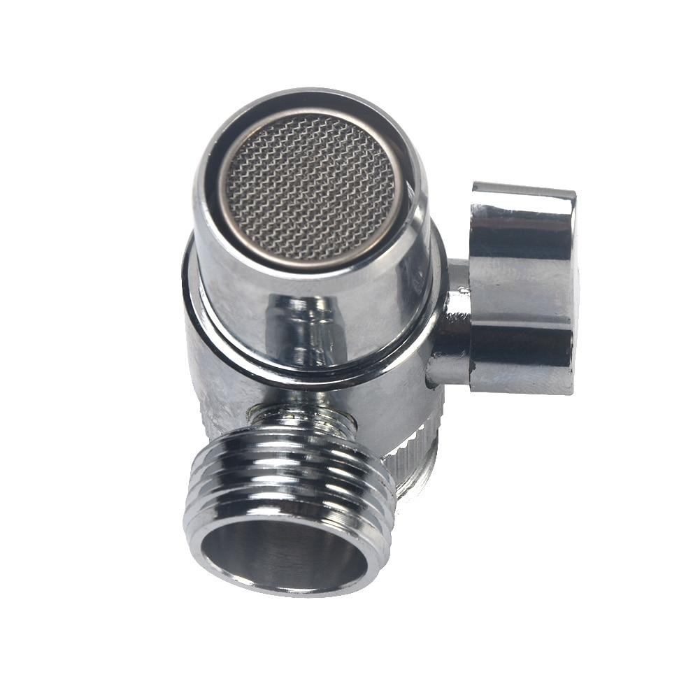 Kitchen Copper Home Water Tap Diverter Bathroom Sink  Faucet Splitter Adapter