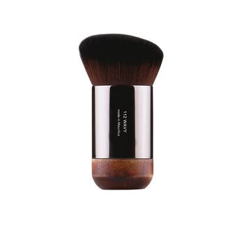 1 piece #112 Portable Angled flat Foundation Makeup brush Natural wood Buffing Foundation cover Professional Make up brushes
