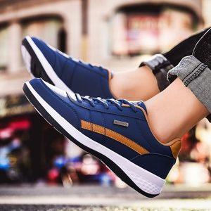 Image 4 - Спортивная обувь из искусственной кожи, мужские кроссовки для бега, Спортивная мужская обувь для бега, белые кроссовки, обувь для бега, A 374