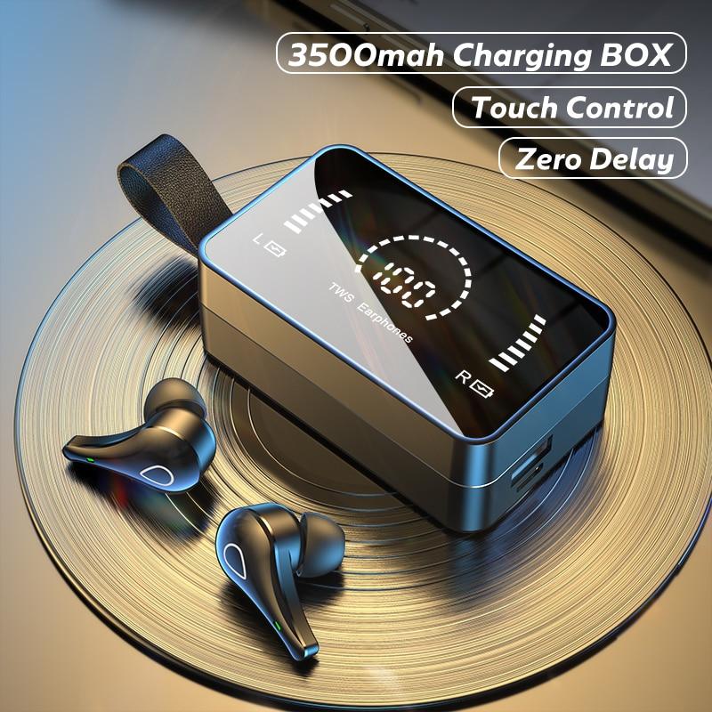 Tws fones de ouvido sem fio 3500mah caixa carregamento 9d estéreo esportes à prova dwaterproof água bluetooth sem fio com microfone para o telefone