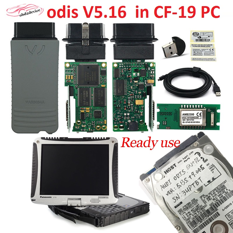 DHL 5054A ODIS V5.16 software free install in CF19 Laptop Ready To Use ODIS V5.16 for Toyota Honda for Audi  V/W car scan tool
