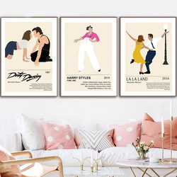 Retro Poster Canvas Prints Dirty Dancing Movie Painting Vintage Pulp Fiction Film Picture Boyfriend Christmas Gift Home Decor