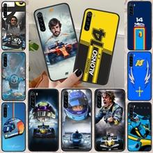 Fernando Alonso 14 Renault F1 Racing Phone Case For Xiaomi Redmi Note 7 8 8T 9 9S 4X 7 7A 9A K30 Pro Ultra black Funda 3D Cover