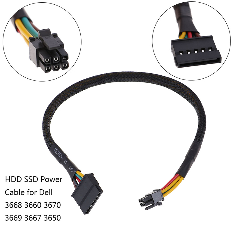 HDD SSD кабель питания для Dell Vostro 3668 3667 3650 SATA жесткий диск питания SATA до 6Pin Интерфейс адаптер конвертер кабель