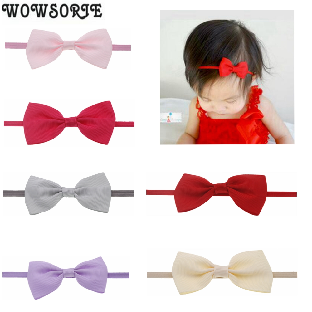 Baby Headband Girls Bow Flower Princess Headband Elastic Flower Candy Colors Hairband baby Children Hair Accessories   Headwear