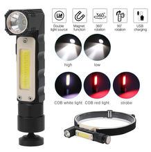 Светодиодный фонарик перезаряжаемый от usb портативный многофункциональный