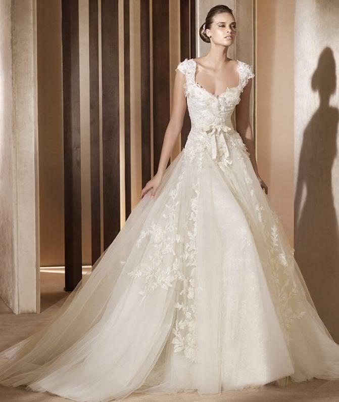 Free Shipping Cap Sleeve Vestido De Noiva Casamento 2016 New Fashionable Bride V-neck Sexy Appliques Bridal Gown Wedding Dress