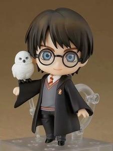 Image 4 - QPosket Nette Große augen Harri Potter Vinyl Figur Modell Spielzeug 10cm anime figur Fertigwaren Modell Manuelle Gesicht ändern