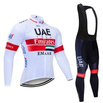Novo 2019 eau outono manga longa conjunto de roupas ciclismo respirável bicicleta wear mtb ciclismo jérsei ropa maillot 1
