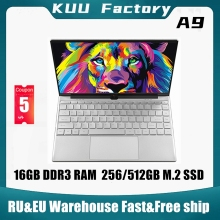 KUU A9 14.1 inch Laptop intel 3867U 16GB DDR3 RAM 512GB M.2 SSD FHD screen WIFI Camera slim Student Notebook