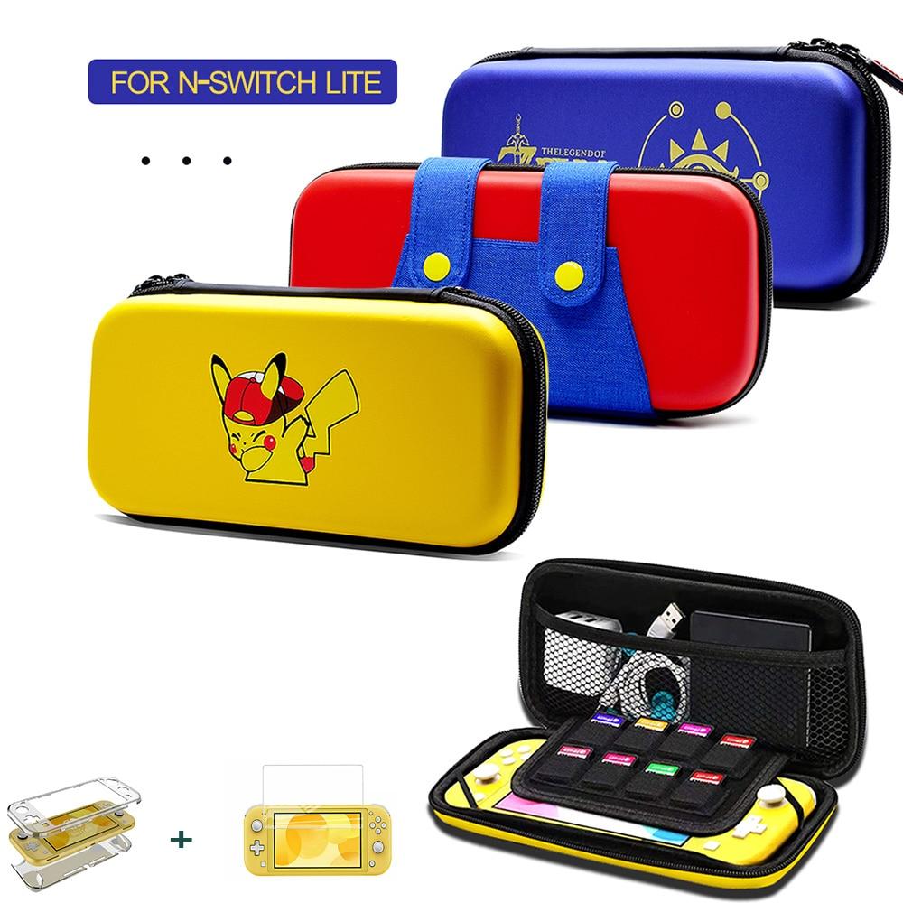 Nintend Switch Lite Console Carrying Bag Kit Accessories EVA Storage Hard Case Bundle Nintendoswitch Portable Travel