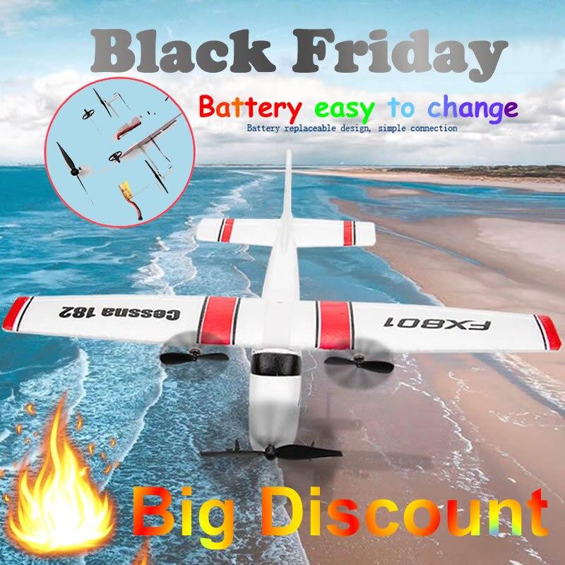Débutant Électrique avion RC rtf Kit UAV Cessna 182 Distance de vol 150 mètres Télécommande avion 2.4G contrôleur DIY Avion Mousse Glider Électrique Costume pour Plus Batterie golbal vente chaude Jouets Cadeau global 5