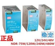 Freies verschiffen NDR-75 120 240 480 12V 24V 48 V meanwell NDR-75 -120 -240 -480 W 12 24 48 V Single Output Industrie DIN Rail