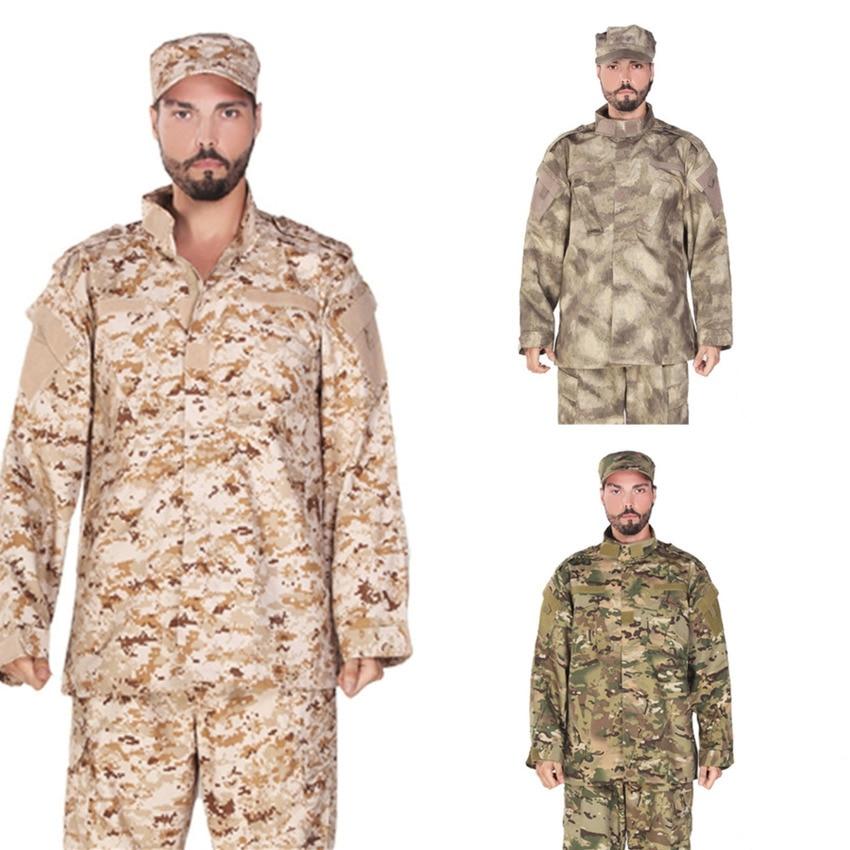 Men Army Tactical Military Uniform Camouflage Combat Shirt Clothes Special Forces ACU Militar Uniforms For Man Coat Sets 17Color