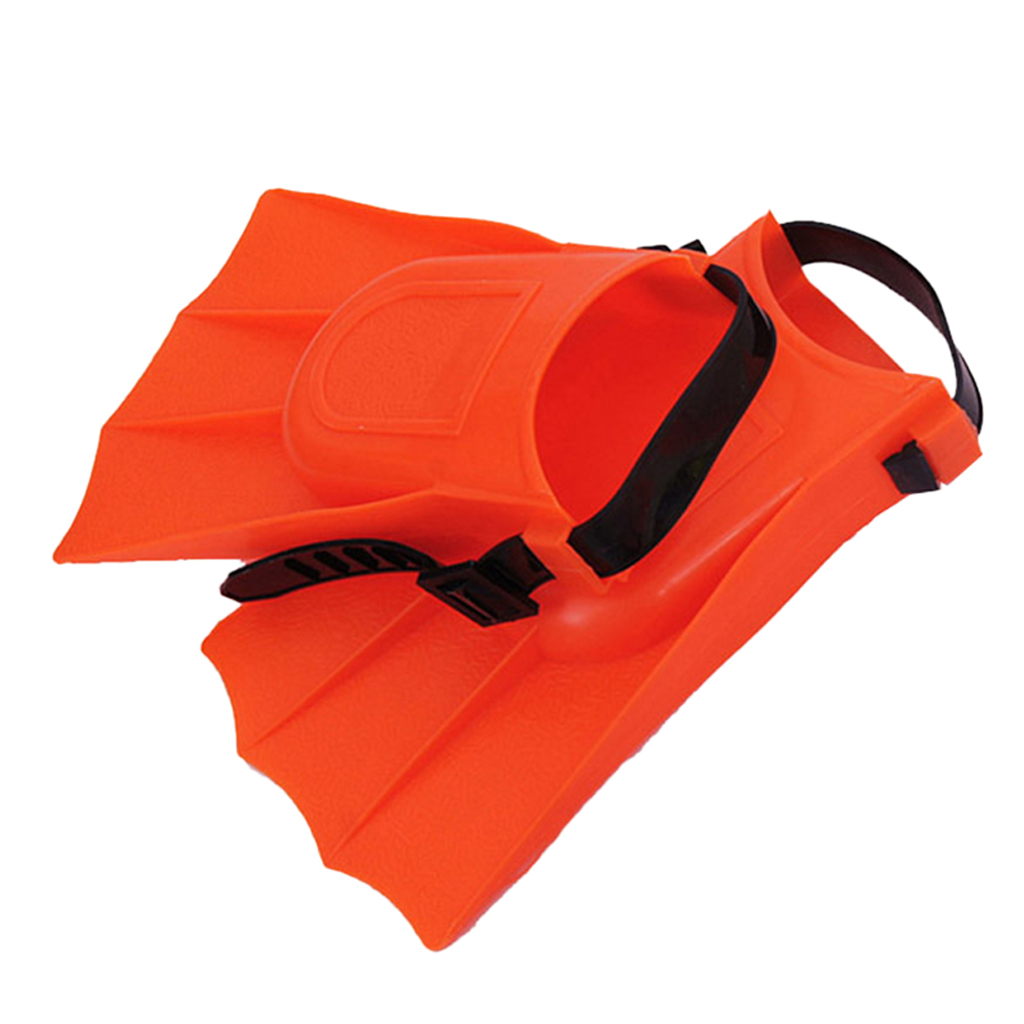 1 Pair Adult Kids Short Fins Flippers For Swimming Snorkeling Diving Watersports