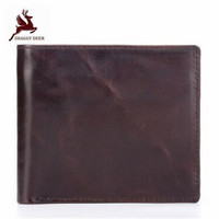 First layer Oil wax Cow leather oil waxed Short Standard men Wallets large capacity soft coin Purses