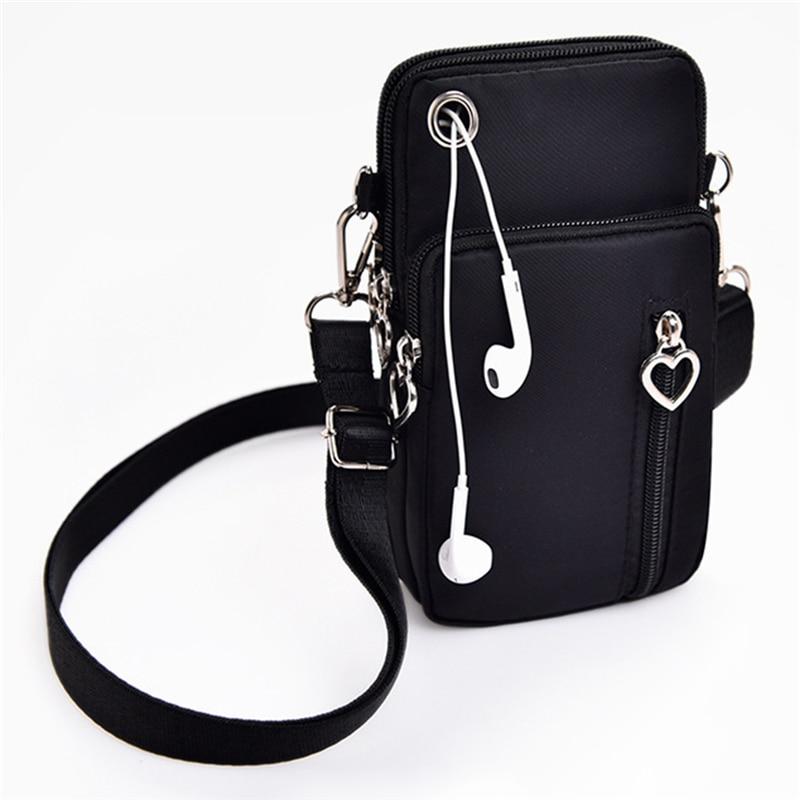 Woman Messenger Bag Mini Shoulder Bag Diagonal Multi-Function Mobile Phone Bag Outdoor Earphone Pouch Sports Bag