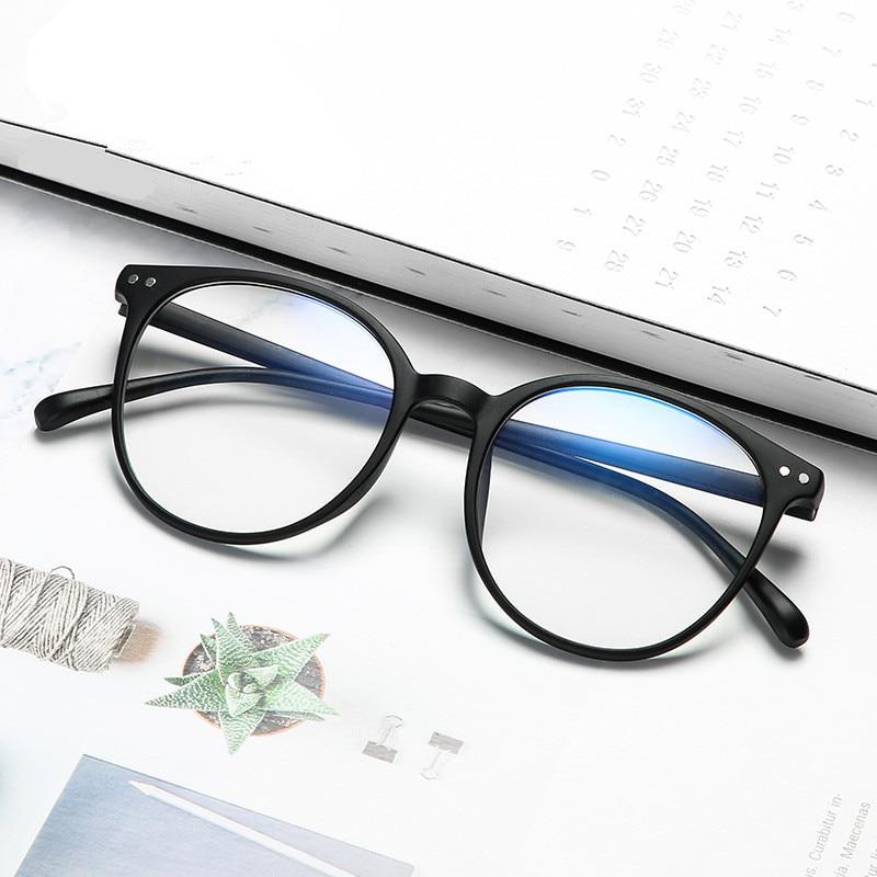 Fashion Anti Blue Light Glasses Frame Plastic Round Men Women Eyeglasses Vintage Computer Transparent Glasses Oculos De Grau