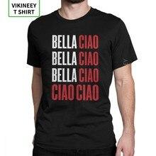 T-Shirt La Case De Papel Money Heist pour homme, vêtement en coton imprimé, Bella Ciao Bella Ciao