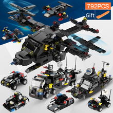 792pcs 3 in 1 Transformation City SWAT Truck Warship Helicopter Building Blocks Technic Toys For Children lepin 2017 new 24023 792pcs technic series deformation 3in1 truck building blocks bricks toys for children 4955 gift