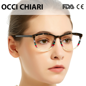 Image 3 - OCCI CHIARI Italy design Glasses women Frame Eyewear Frame Spectacles Oculos Lunettes Gafas Demi Colour Gift W CORSO