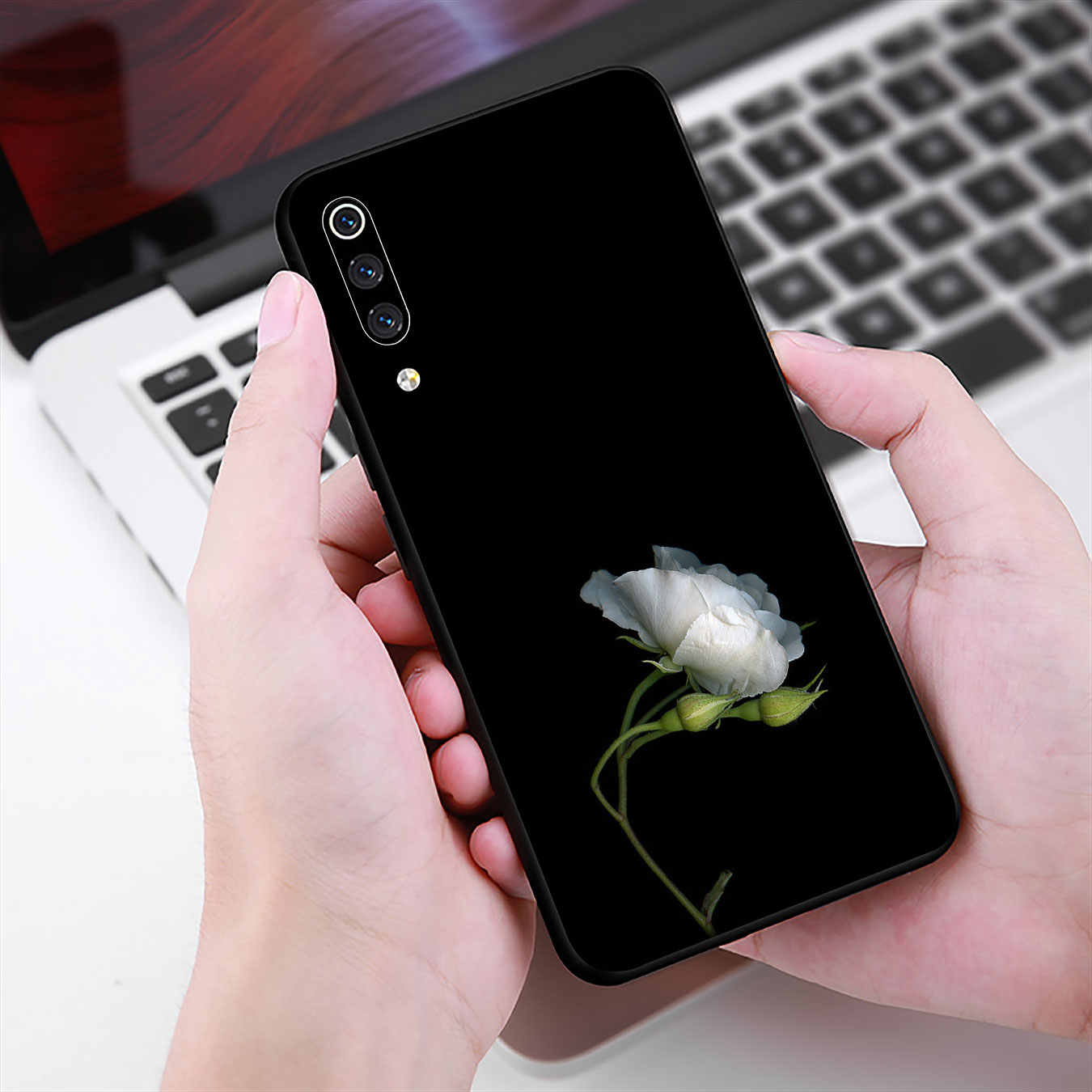 Funda suave flor amarilla tono oscuro para Xiaomi mi 10 9T A3 Pro 8 SE A2 Lite A1 6 CC9 CC9E pocofone f1 mi 10