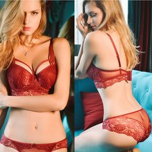 Sexy Mousse 2017 free shipping half cup bra brief set !Lace push up Lingerie Se Women Bras Intimates