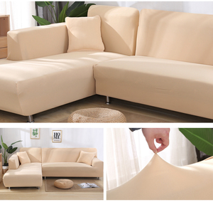 Image 4 - Elastic Stretch Sofa Cover 1/2/3/4 Seater Sof Slipcover Couch Covers for Universal Sofas Livingroom Sectional L Shaped Slipcover