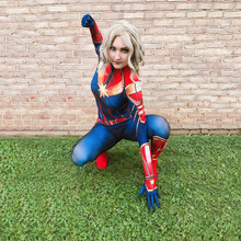 Captain Marvel Super Cool Cosplay Costume Halloween Party Gi