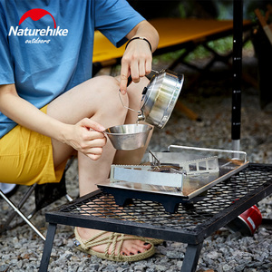 Image 4 - Naturehike 2019 New Outdoor Desktop Stove Cassette Furnace Portable Stove Wild Barbecue Oven Card Magnetic Furnace BBQ Gas Stove