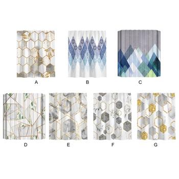 Druk cyfrowy 3D piękna marmurowa zasłona prysznicowa o wysokiej gęstości ultra-miękka tkanina wygodna 5 9 * 5 9ft(1 8*1 8m) tanie i dobre opinie CN (pochodzenie) Fabric Nowoczesne 2020 Ekologiczne 5 9 * 5 9 ft (1 8 * 1 8 m) polyester flannelette Exquisite design high-density