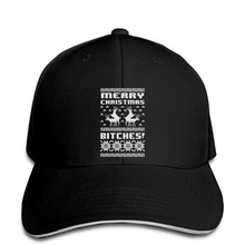 Baseball Cap Merry Christmas Bitches Xmas Ugly Sweater Humping Reindeer Funny Snapback hat peaked(China)