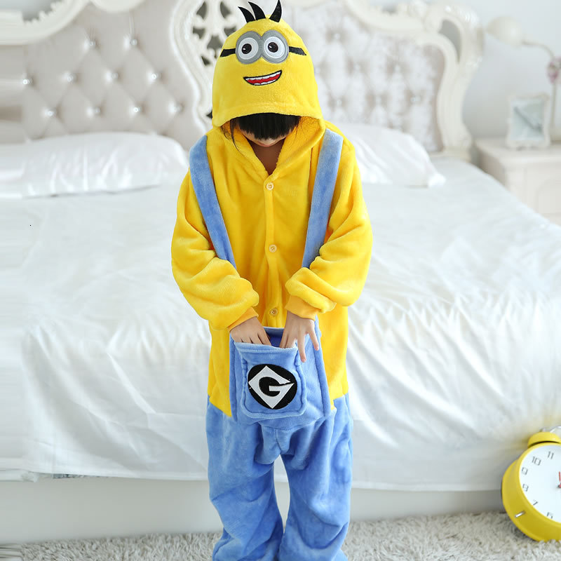 Kigurumi Animals Kids Anime Cosplay Costume Funny Suit School Party Student Play Games Onesie Performance Minions Fancy