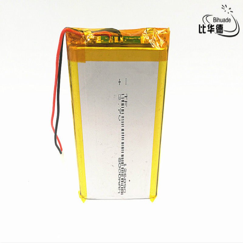 10pcs 126090 <font><b>3.7v</b></font> <font><b>8000mAh</b></font> lithium ion rechargeable battery for GPS POWER BANK image