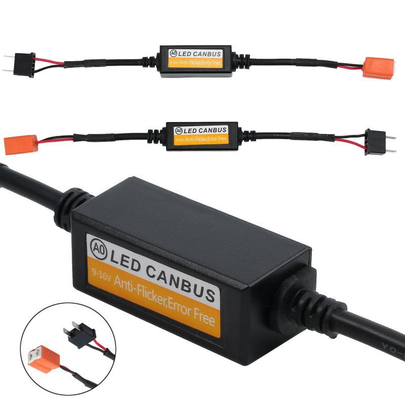 50 Вт H1 H4 H7 H11 9006 Hb3 Hb4 H9 H8 H11 автомобиля нагрузочный резистор ошибка компенсатор светодиодный декодер Canbus Бесплатная проводки декодер компенса...